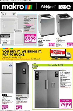 Electronics & Home Appliances offers in the Makro catalogue in Roodepoort