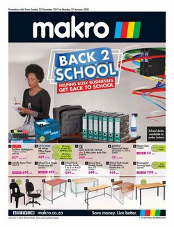 Makro catalogue in Port Elizabeth ( More than a month )