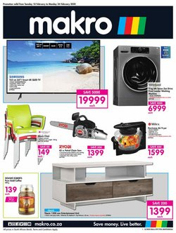 Electronics & Home Appliances offers in the Makro catalogue in Roodepoort ( 1 day ago )