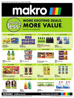 Electronics & Home Appliances offers in the Makro catalogue in Durban ( Published today )