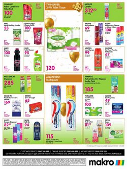 Sanitary pads specials in Makro