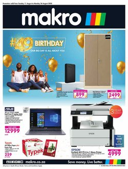 Electronics & Home Appliances offers in the Makro catalogue in Port Elizabeth ( 1 day ago )