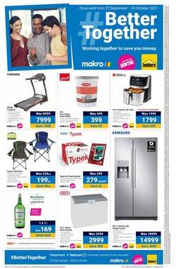 Makro offers in the Makro catalogue ( 7 days left)