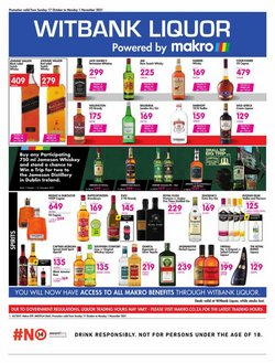 Groceries offers in the Makro catalogue ( Published today)