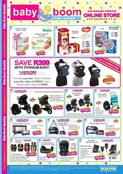 Baby Boom deals in the Johannesburg special