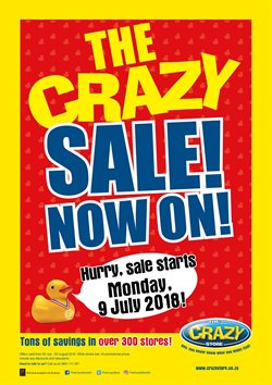 Sales offers in the The Crazy Store catalogue in Cape Town