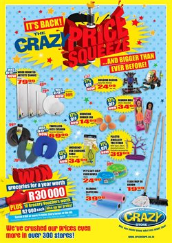 The Crazy Store deals in the Johannesburg special