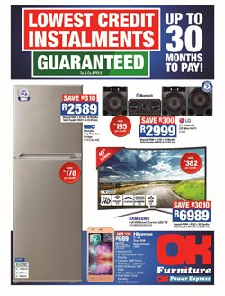 OK Furniture deals in the Polokwane special