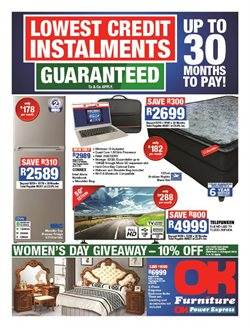 Home & Furniture offers in the OK Furniture catalogue in Port Elizabeth
