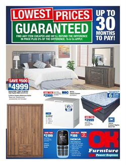 Bedroom offers in the OK Furniture catalogue in Cape Town