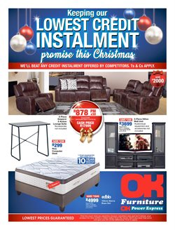 OK Furniture deals in the Cape Town special