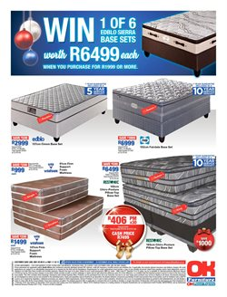 Pillow offers in the OK Furniture catalogue in Cape Town