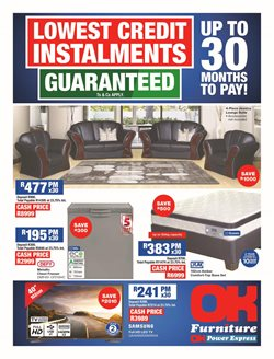 OK Furniture deals in the Johannesburg special