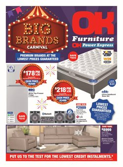 OK Furniture deals in the Pretoria special