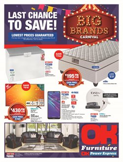 Home & Furniture offers in the OK Furniture catalogue in Rustenburg