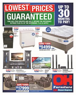 OK Furniture deals in the Edenvale special
