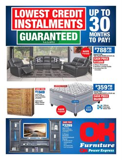 Home & Furniture offers in the OK Furniture catalogue in Vereeniging