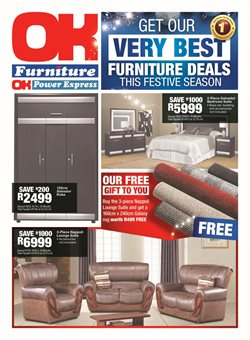 OK Furniture deals in the Sandton special