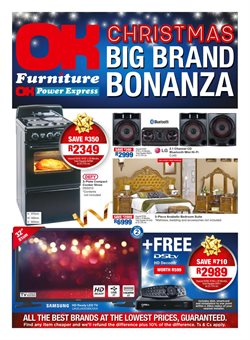 OK Furniture deals in the Durban special