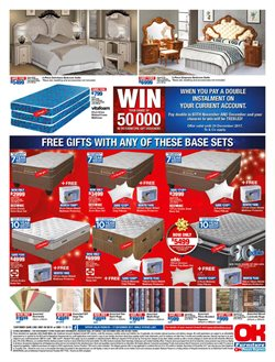 Bed offers in the OK Furniture catalogue in Cape Town