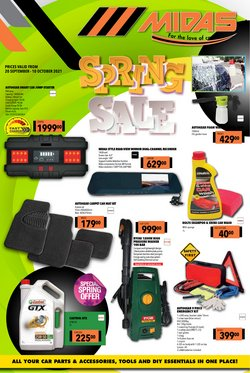 Cars, Motorcycles & Spares offers in the Midas catalogue ( 15 days left)