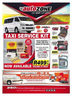 AutoZone deals in the Pretoria special