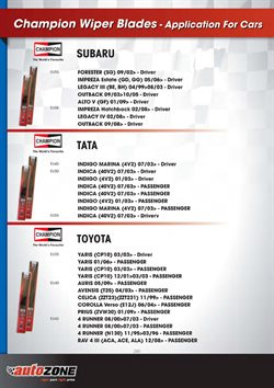 Tires offers in the AutoZone catalogue in Cape Town