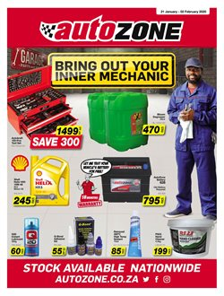 AutoZone deals in the Jeffreys Bay special