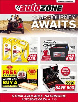 AutoZone catalogue in Cape Town ( 3 days ago )