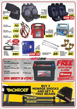 Car battery specials in AutoZone