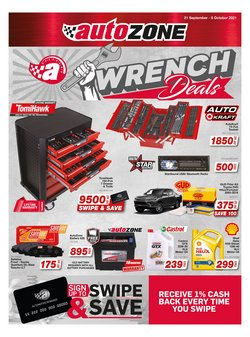 Cars, Motorcycles & Spares offers in the AutoZone catalogue ( 10 days left)
