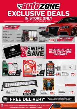 Cars, Motorcycles & Spares offers in the AutoZone catalogue ( Expires tomorrow)