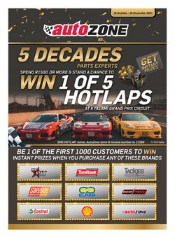 Cars, Motorcycles & Spares offers in the AutoZone catalogue ( 7 days left)