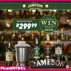Whiskey specials in Picardi Rebel