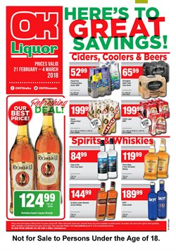 Enjoy OK Liquor Store deals in the Cape Town special