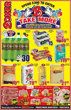 Boxer Superstores deals in the Bhisho special