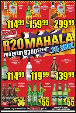 Boxer Superstores deals in the Johannesburg special