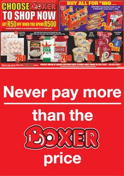 Groceries offers in the Boxer catalogue in Port Elizabeth ( Expires today )