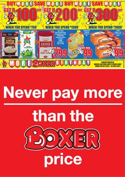 Groceries offers in the Boxer catalogue ( 20 days left)