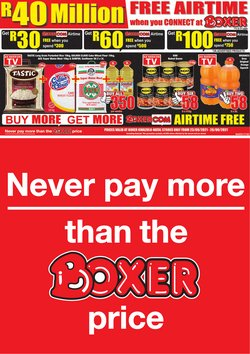 Boxer offers in the Boxer catalogue ( Expires tomorrow)