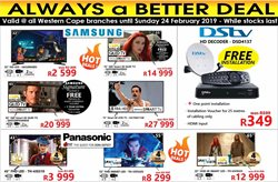 Electricals & Home Appliances offers in the Tafelberg Furnishers catalogue in Cape Town