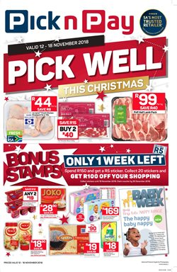 Pick n Pay Hypermarket deals in the Cape Town special