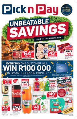 Groceries offers in the Pick n Pay Hypermarket catalogue in Khayelitsha