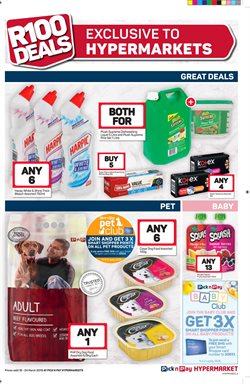 Bleach offers in the Pick n Pay Hypermarket catalogue in Cape Town