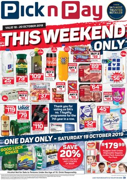 Groceries offers in the Pick n Pay Hypermarket catalogue in Krugersdorp