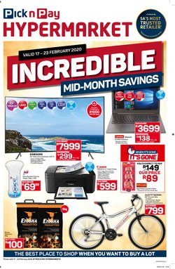 Pick n Pay Hypermarket catalogue ( Published today )