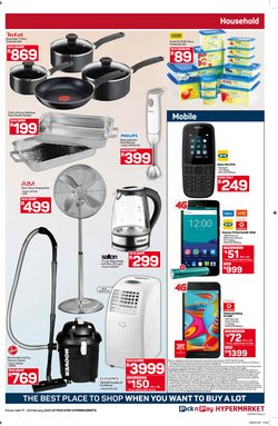 Fan specials in Pick n Pay Hypermarket