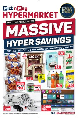 Maize meal specials in Pick n Pay Hypermarket