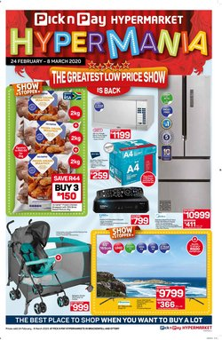 Pick n Pay Hypermarket catalogue ( 11 days left)