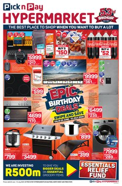 Pick n Pay Hypermarket catalogue in Johannesburg ( 3 days left )